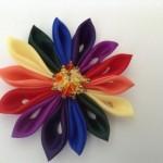 Kanzashi Rainbow Gay Pride buttonhole