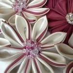 Kanzashi crystal flowers