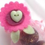 Pink & Mint Felt Favour Bag Topper